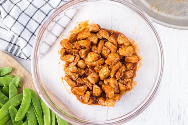 chicken in General Tso's sauce