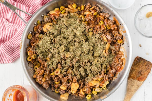 add spices to filling