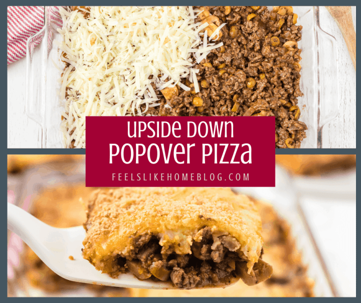 A close up of popover pizza