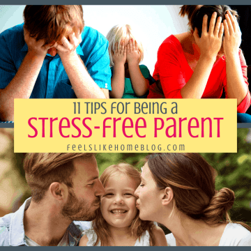 stressed out parents and happy parents