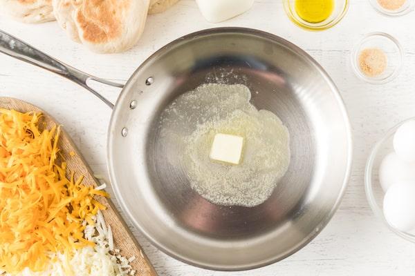 melt butter in a skillet