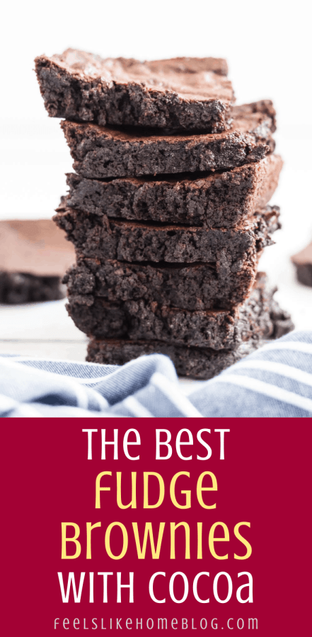 a stack of brownies on a blue towel