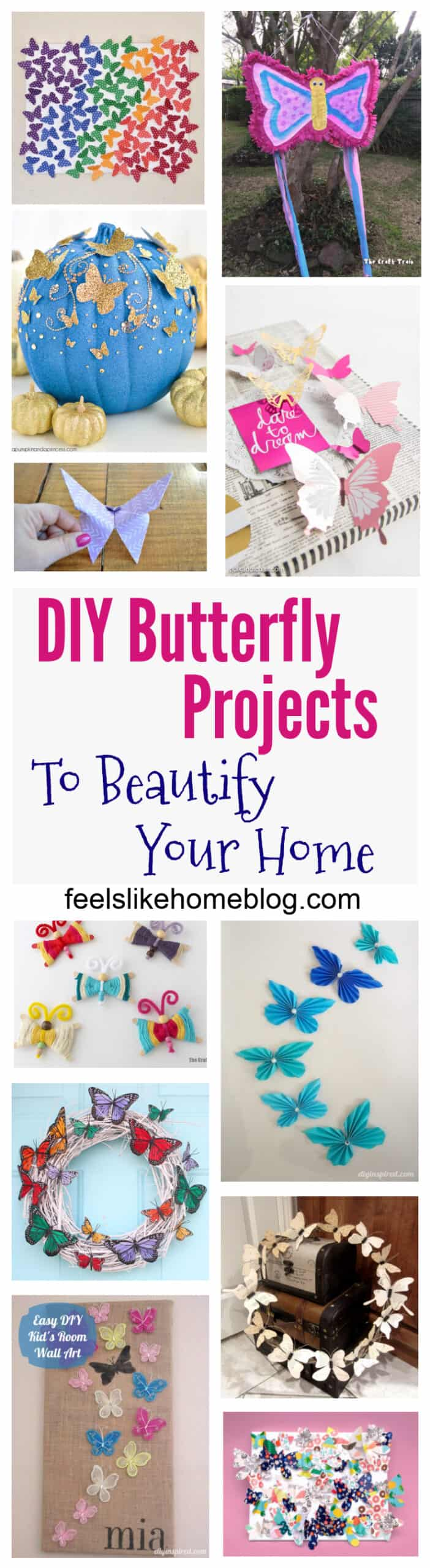 15 DIY Butterfly Decorations to Beautify Your Walls