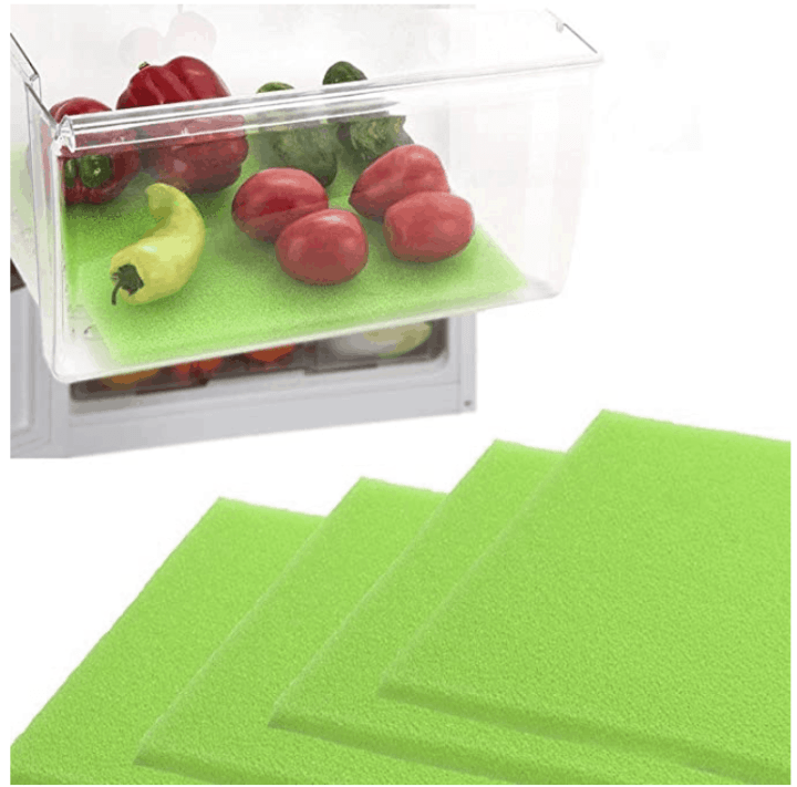 green shelf liners for produce