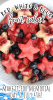 a bowl of red white and blue fruit salad