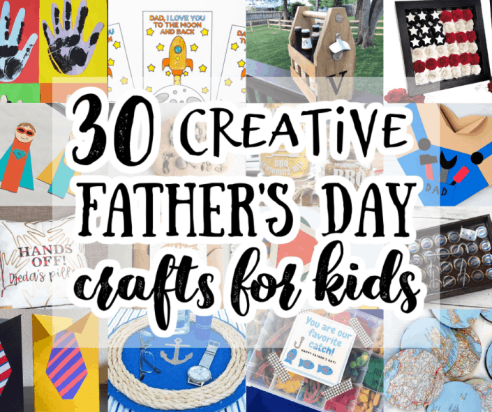 collage of DIY Father's Day gifts