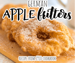 apple fritters on a cutting board