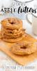 German apple fritters sprinkled with cinnamon sugar