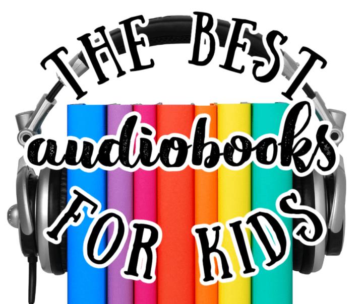 rainbow colored books with headphones