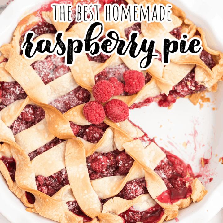 raspberry pie with one slice missing