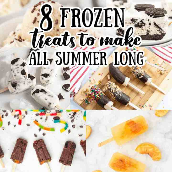 a collage of frozen treats for summer