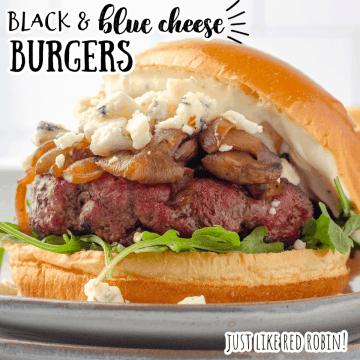 black and blue burger