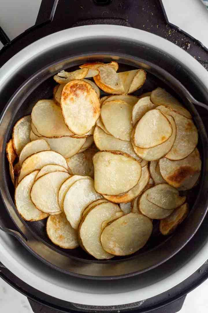 stir the chips halfway through cooking