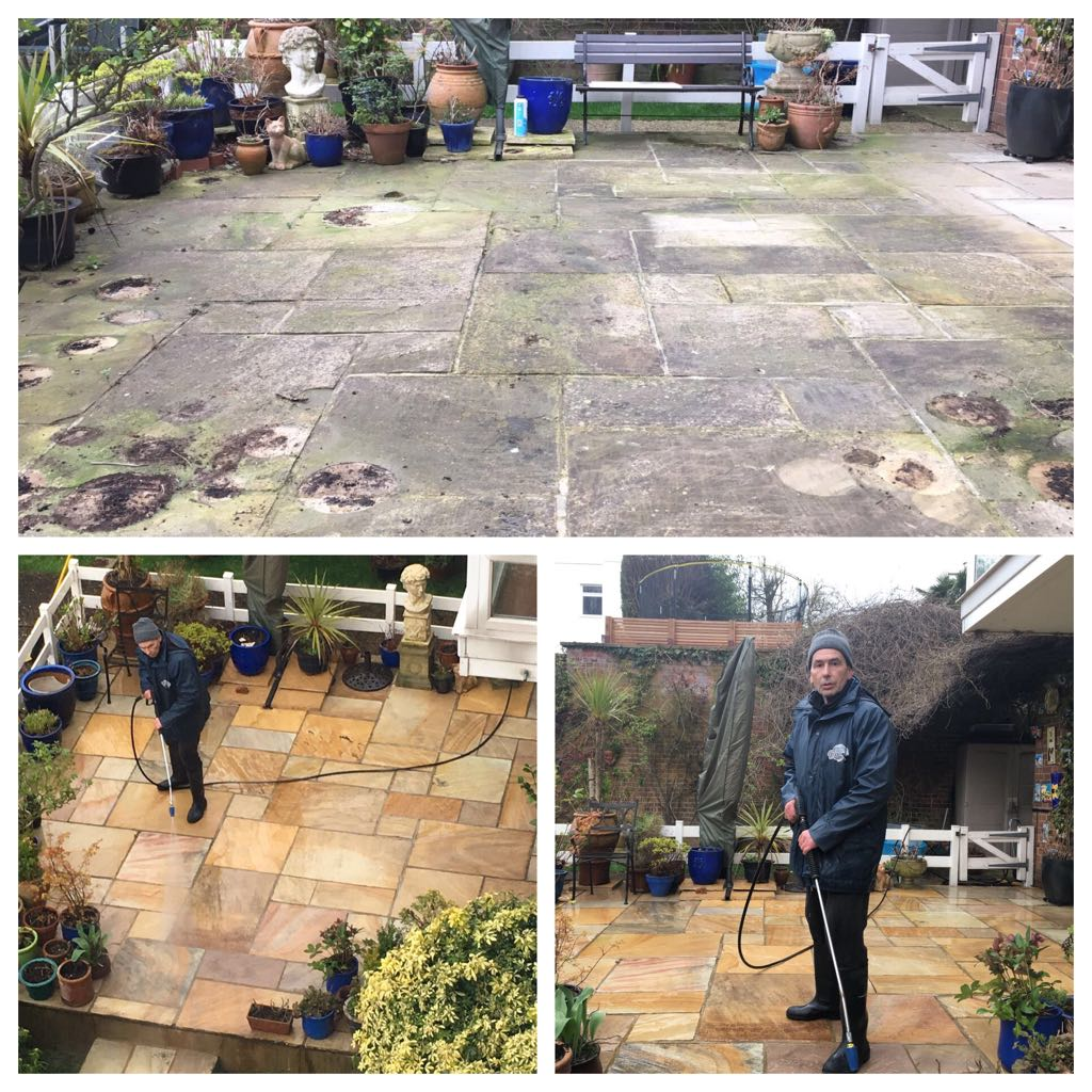 patio cleaning and black spot removal
