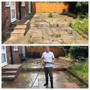 garden and patio cleaned in Richmond Surrey