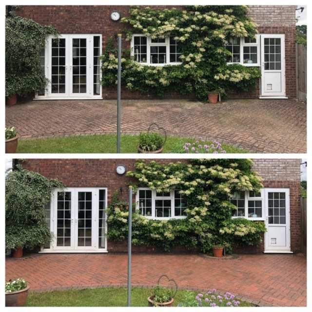 block paving patio black spot removal service
