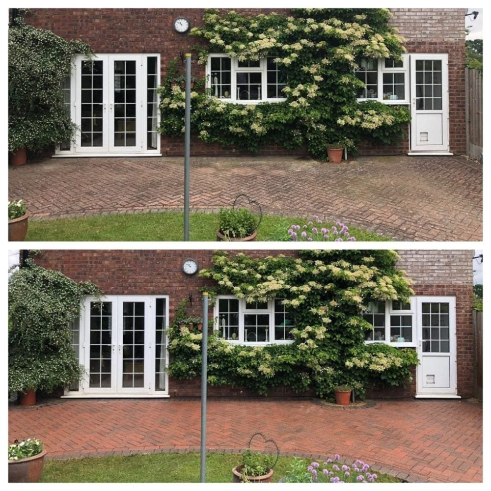 block paving patio black spot removal service