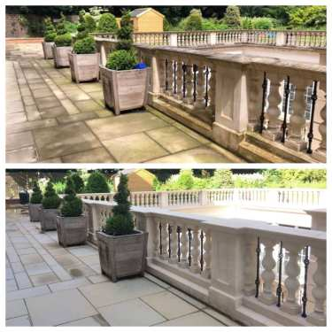 Pressure Cleaning Services - Patio Cleaning using super heated pressure cleaners