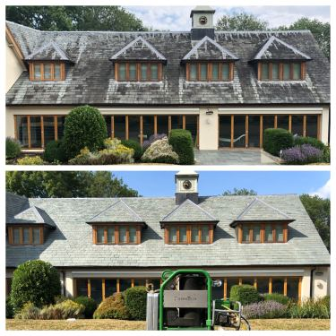 pressure cleaned slate roof in Barnet, hertfordshire,