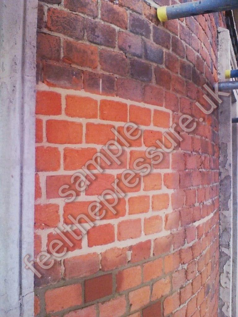 feel the pressure uk brick restoration sample patch