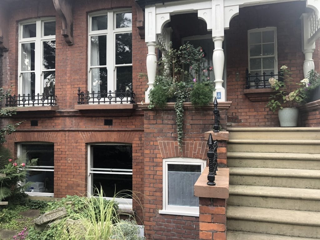 victorian red brick property before cleaning service
