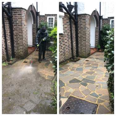 Patio steam cleaning  vs high-pressure patio cleaning