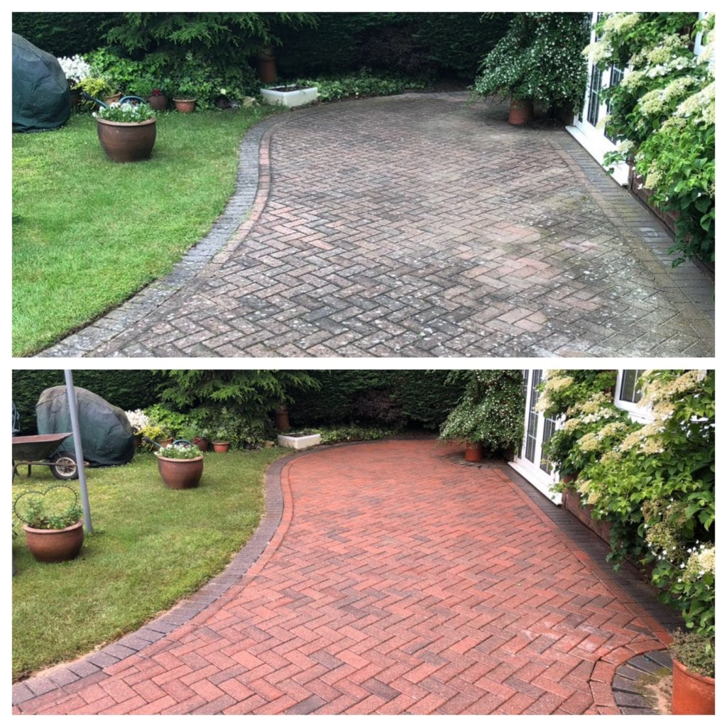red block paving patio cleaning service hampstead, london