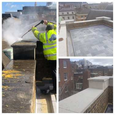 Portland stone cleaning services in the city of london