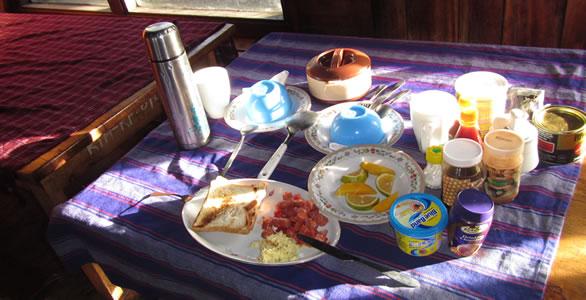 Food on Mt. Kilimanjaro
