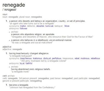 Renegade Definition