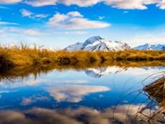 reflection in mountain lake