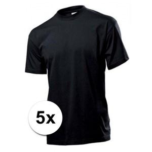 Zwarte Stedman t-shirts 5 stuks