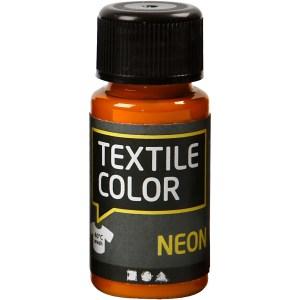 textielverf neon oranje