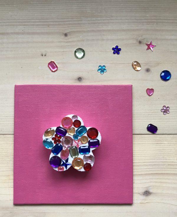glitter pret knutselpakket
