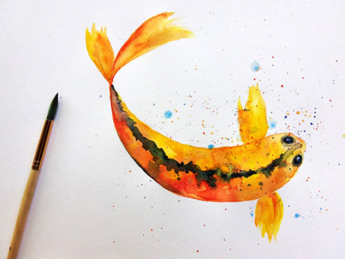 Poisson à l'aquarelle