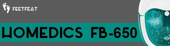 HoMedics FB-650 Foot Spa Banner