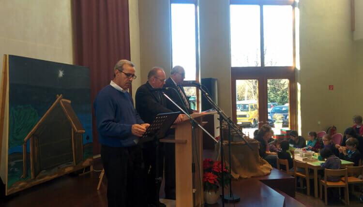 Predigt am 25.12.2015 (v.L. Michael Daboul, Gerd Ballon, Hans Hornisch)