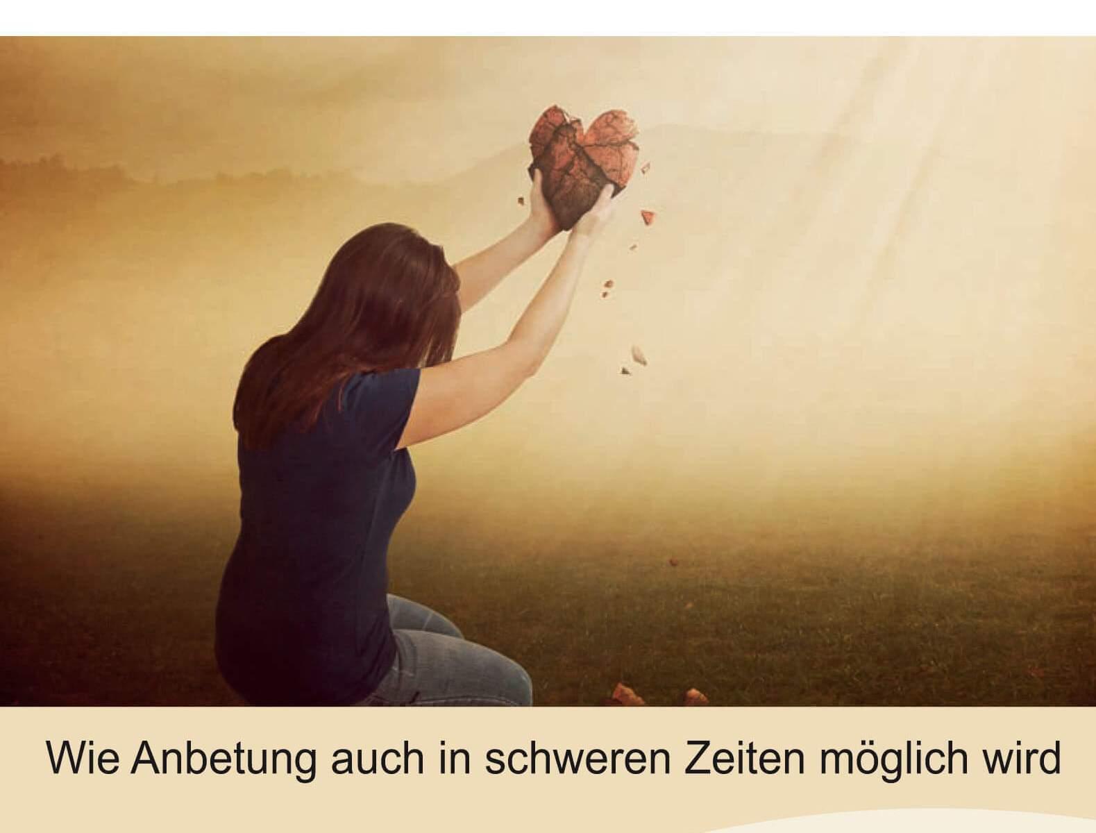 """Buchcover: """"Wenn Leid zum Himmel schreit"""" - Wie Anbetung auch in schweren Zeiten möglich wird."""
