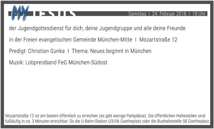 Flyer Rückseite MY JESUS – Neues beginnt in München