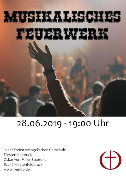 Flyer musikalisches Feuerwerk 2019