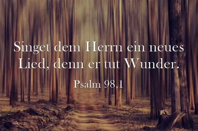 Singet dem Herrn ein neues Lied, denn er tut Wunder. - Psalm 98,1