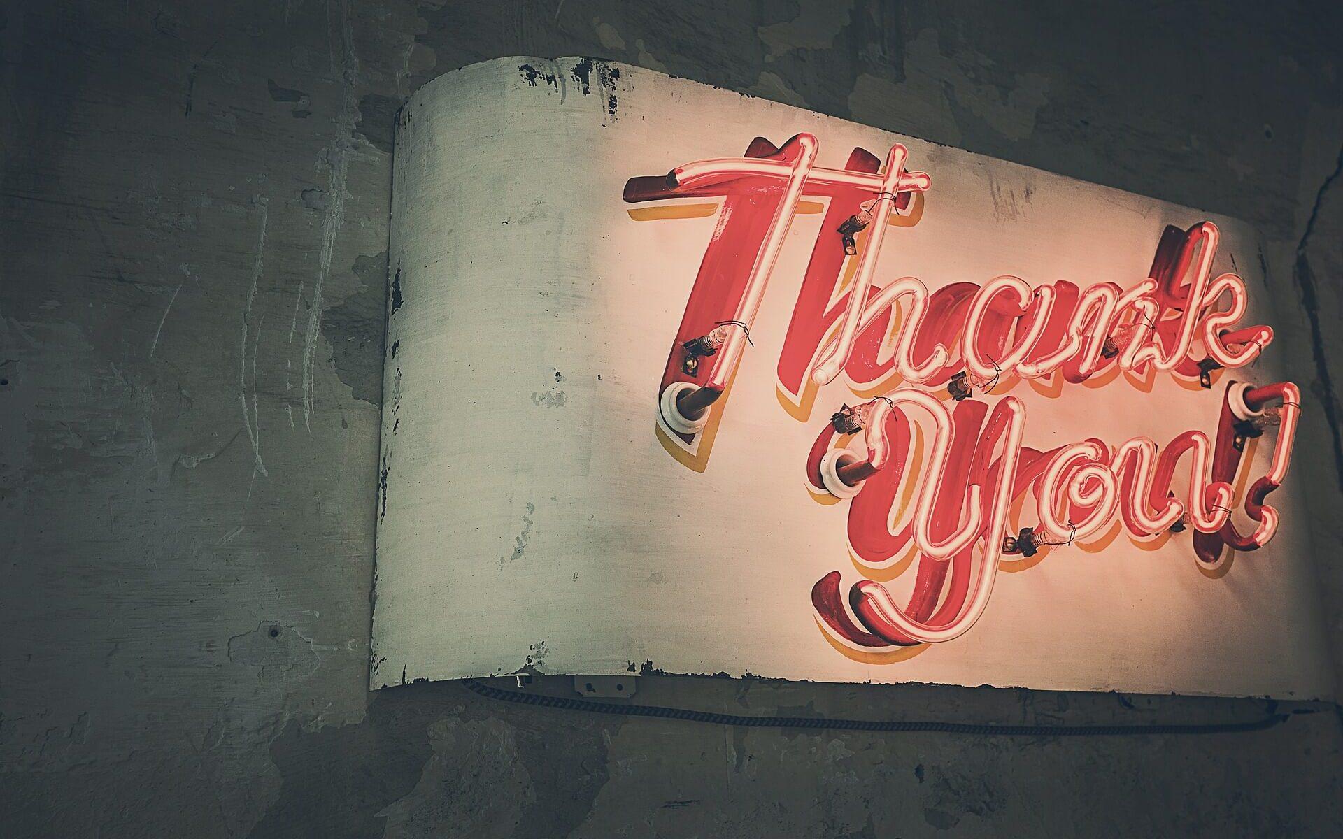 Danke. Merci. Thank you! - von der Kunst zu Danken.