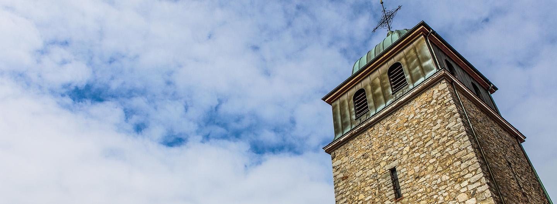 Kirchturm Mariae Himmelfahrt Zwingenberg