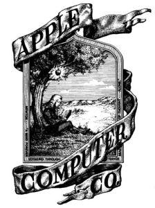 Apple'ın Neton'lu ilk logosu