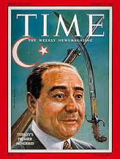 Menderes, TIME dergisi kapağında: Arkasına konulan tüfek ve kılıç ihtar mıydı dersiniz?