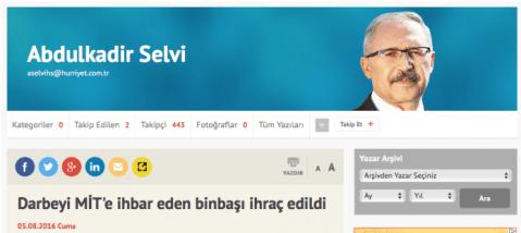 Selvi'nin 5 Ağustos yazısının başlığı
