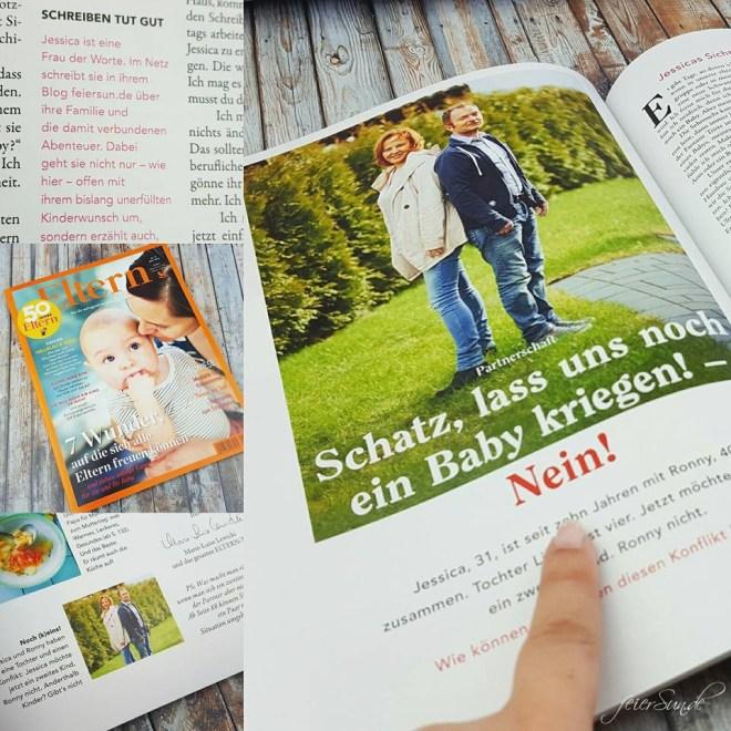 Referenz Media Elern Print zweites Kind Partnerschaft Magazin