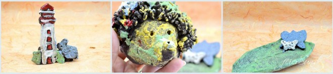 Töpfern mit Kindern - kreativ mit allen Sinnen sein die Altlaäder Töperfei unsere Kunstwerke gebrannt und glasiert