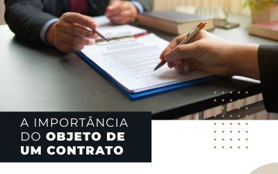 A importância do OBJETO de um contrato