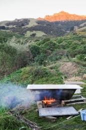 Badewanne, Wasser, Feuer - Genuss